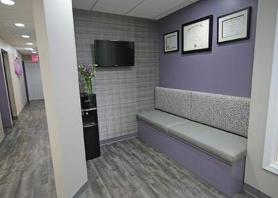 Bench seating at Crystal Lake Endodontics