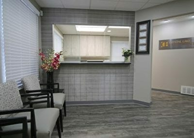 Reception area of Crystal Lake Endodontics