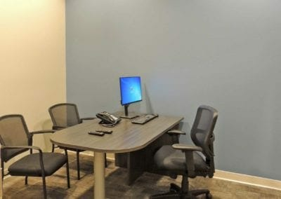 Patient consult room at healthcare facility