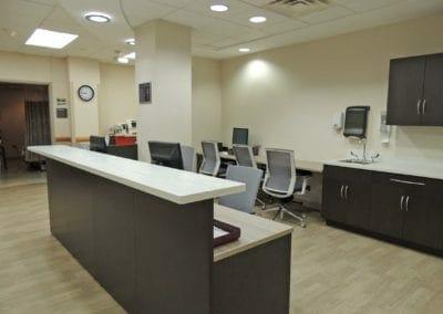 Nurses station at a healthcare facility