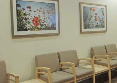 Waiting room at a healthcare facility