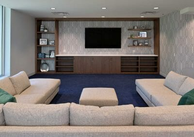 family room in office
